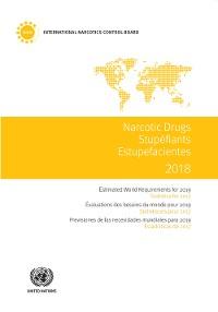 Cover Narcotic Drugs 2018/Stupéfiants 2018/Estupefacientes 2018