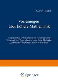 Cover Vorlesungen uber hohere Mathematik