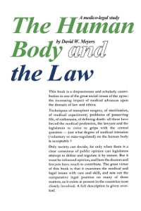 Cover Human Body and the Law