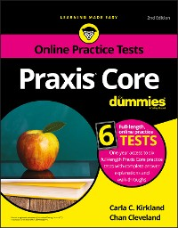 Cover Praxis Core For Dummies with Online Practice Tests