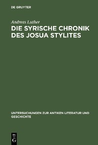 Cover Die syrische Chronik des Josua Stylites