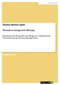 Cover Humanvermögensrechnung