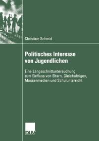 Cover Politisches Interesse von Jugendlichen