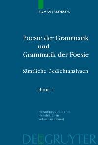 Cover Poesie der Grammatik und Grammatik der Poesie
