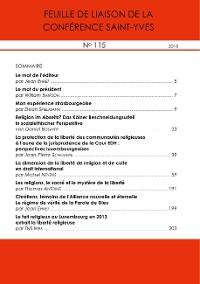 Cover Feuille de liaison de la Conférence Saint-Yves