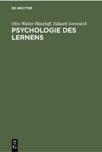 Cover Psychologie des Lernens