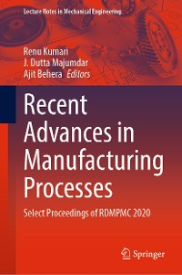 Cover Recent Advances in Manufacturing Processes