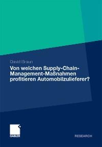 Cover Von welchen Supply-Chain-Management-Maßnahmen profitieren Automobilzulieferer?