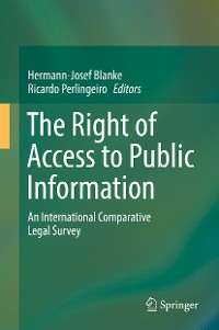 Cover The Right of Access to Public Information