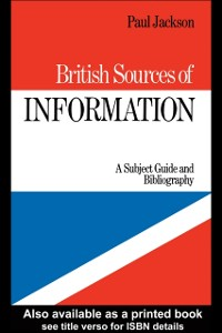 Cover British Sources of Information