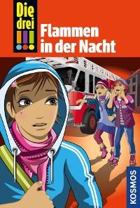 Cover Die drei !!!, 63, Flammen in der Nacht (drei Ausrufezeichen)