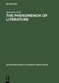 Cover The Phenomenon of Literature