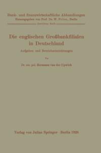 Cover Die englischen Grobankfilialen in Deutschland