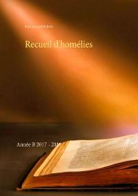 Cover Recueil d'homélies
