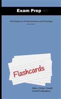Cover Exam Prep Flash Cards for POP Display for Pocket Anatomy and Physiology