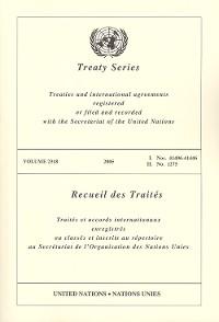 Cover Treaty Series 2318/Recueil des Traités 2318