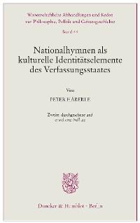 Cover Nationalhymnen als kulturelle Identitätselemente des Verfassungsstaates.