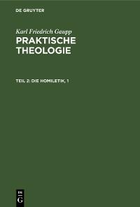 Cover Die Homiletik, 1
