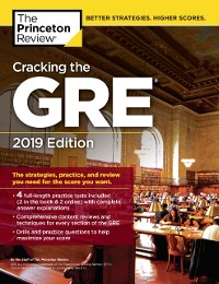 Cover Cracking the GRE with 4 Practice Tests, 2019 Edition