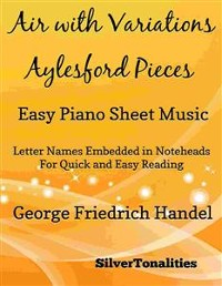 Cover Air With Variations Aylesford Pieces Easy Piano Sheet Music