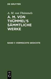 Cover Vermischte Gedichte