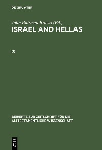 Cover John Pairman Brown: Israel and Hellas. [I]