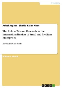 Cover The Role of Market Research in the Internationalization of Small and Medium Enterprises