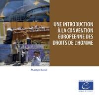 Cover Une introduction à la Convention européenne des droits de l'homme