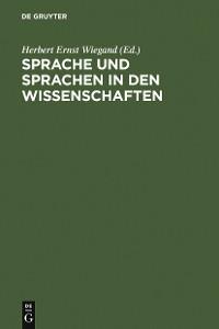 Cover Sprache und Sprachen in den Wissenschaften