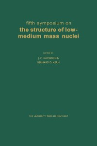 Cover Fifth Symposium on the Structure of Low-Medium Mass Nuclei