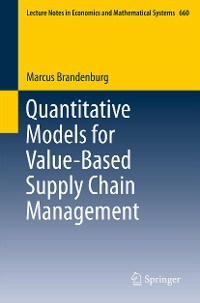 Cover Quantitative Models for Value-Based Supply Chain Management