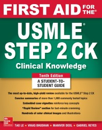 Cover First Aid for the USMLE Step 2 CK, Tenth Edition