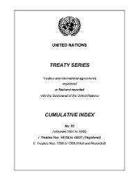 Cover Treaty Series Cumulative Index No.53