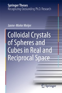 Cover Colloidal Crystals of Spheres and Cubes in Real and Reciprocal Space