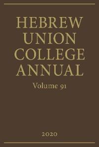 Cover Hebrew Union College Annual Vol. 91 (2020)