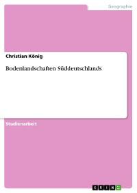 Cover Bodenlandschaften Süddeutschlands