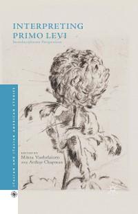 Cover Interpreting Primo Levi