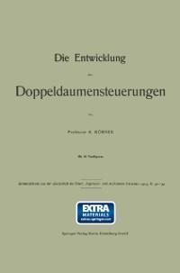 Cover Die Entwicklung der Doppeldaumensteuerungen