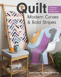 Cover Quilt Modern Curves & Bold Stripes