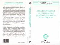 Cover Crise economique et politique de dereglementation au Cameroun