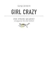 Cover George Gershwin Girl Crazy for string quartet