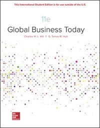 Cover ISE EBook Online Access for Global Business Today