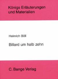 Cover Billard um halb 10 von Heinrich Böll. Textanalyse und Interpretation.