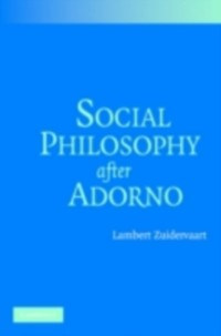 Cover Social Philosophy after Adorno