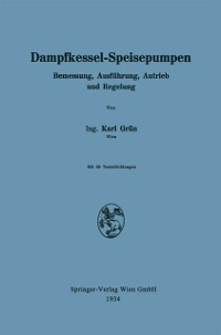 Cover Dampfkessel-Speisepumpen