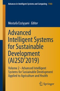 Cover Advanced Intelligent Systems for Sustainable Development (AI2SD'2019)