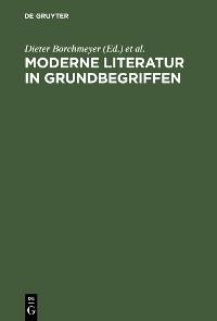 Cover Moderne Literatur in Grundbegriffen