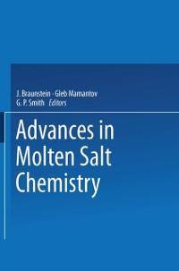 Cover Advances in Molten Salt Chemistry