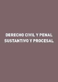 Cover Derecho civil y penal sustantivo y procesal