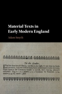 Cover Material Texts in Early Modern England